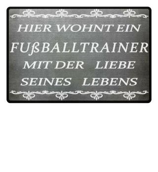Fußballtrainer Fußmatte
