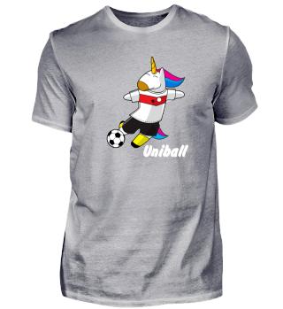 Einhorn spielt Fussball