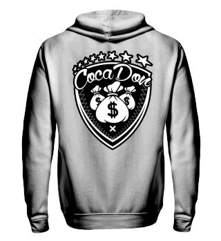 Herren Zip Hoodie Sweatshirt Coca Don Ramirez