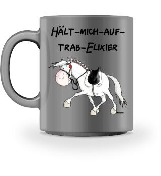 Hält Mich Auf Trab Elixier Pferd Tasse