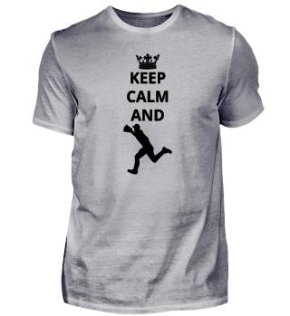 geschenk keep calm and baseball