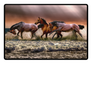 ★ Galloping Horses At The Beach 1