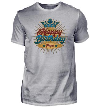 Happy Birthday Papa Vater Geburtstag US Vintage geschenk gift present birthday sixty