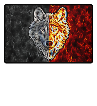 Graceful WOLF Two Colored Fußmatte