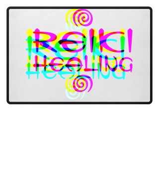 Reiki Healing Spirals - crossed colored