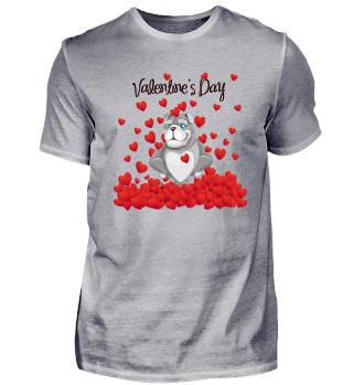 Valentinstag Hund Liebe Shirt Geschenk