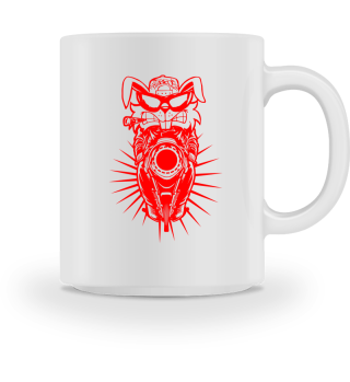 GIFT- ANGRY MOTORCYCLIST RAT RED