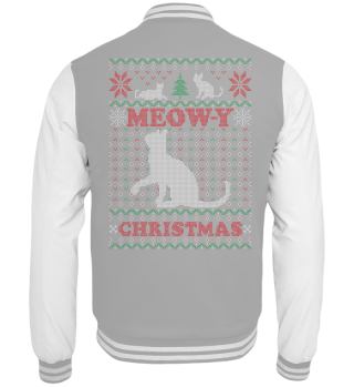 Meowy Ugly Chrismtas Sweater Cat Gift