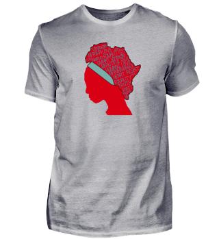 Afrikanische Frau - Kontinent - Afrika a