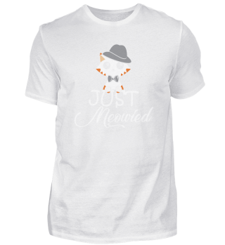 Just married Couple Cat Lover Wedding Gr