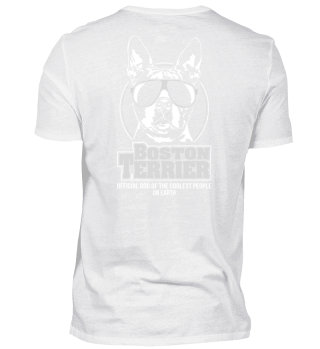 BOSTON TERRIER coolest people Backprint
