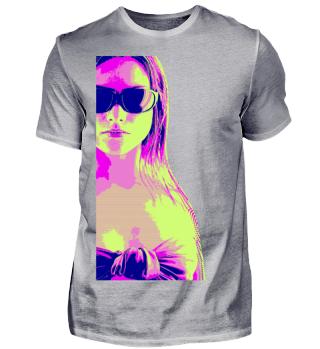 ♥ Hipster Beach Girl - pop art style 2