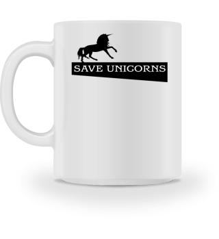 SAVE UNICORNS - black Einhorn