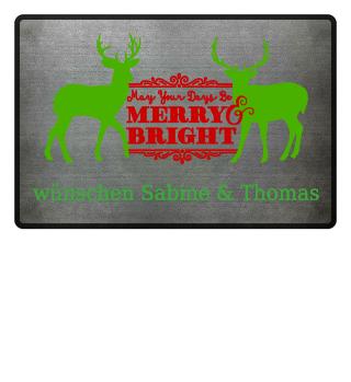 ★ Merry Bright - Vintage Deers IIa