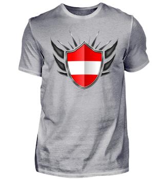 Österreich-Austria Wappen Flagge 013