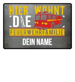 Feuerwehrfamilie Feuerwehrleute Geschenk