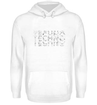 Exclusive Techno Retro TShirt Pullover Hoodie