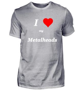 I love Metalheads music Herz Geschenk
