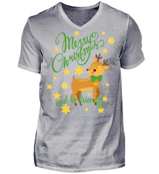 ★ Merry Christmas Fawn Snowflakes I