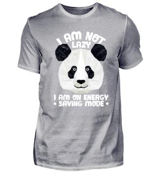 Lustiger Panda Bär Spruch Faul Relax