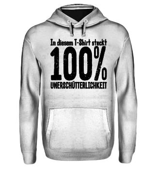 100% Unerschütterlichkeit - schwarz