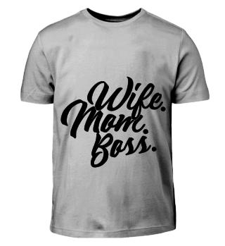 GIFT- WIFE MOM BOSS BLACK