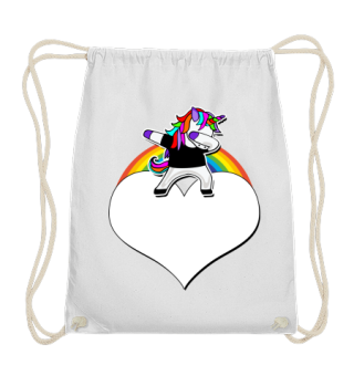 ♥ Dabbing Rainbow Unicorn - Your Text 3