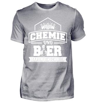 Lustiges Chemie Chemiker Shirt Und Bier