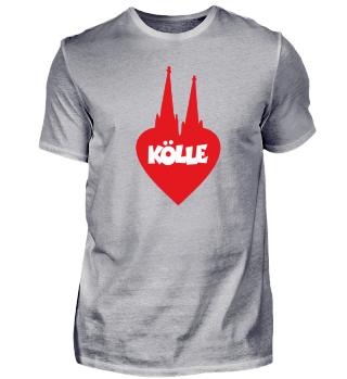 I love Kölle Köln Herz mit Kölner Dom