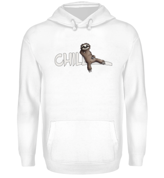 chill sloth cool casual gift Faultier