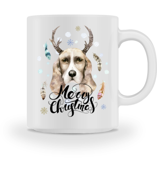 ☛ Merry Christmas · Boho Dog · Hund #2BT