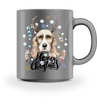 ☛ Merry Christmas · Boho Dog · Hund #2BT