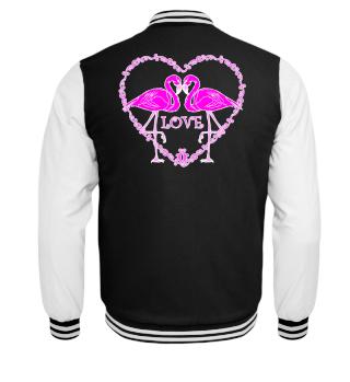 ♥ Pink Flamingos Vintage Heart LOVE II