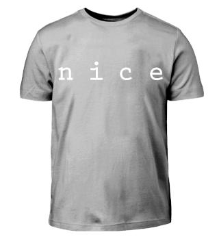 nice Design Statement Shirt Weiß