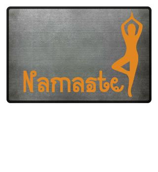 Namaste Fußmatte für Yogaschule Indien
