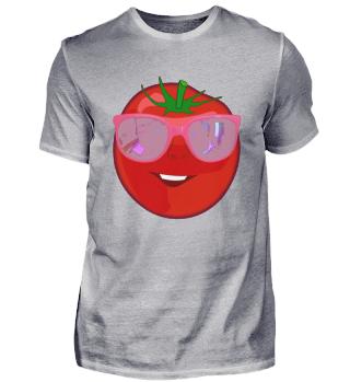 Coole Tomate mit Sonnenbrille