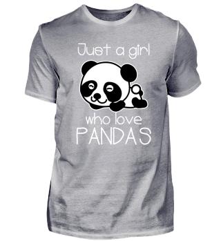Panda lieben Mädchentier