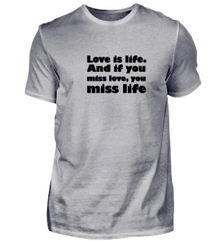 Love Liebe T-Shirt Valentinestag