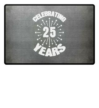 Celebration 25 years birthday