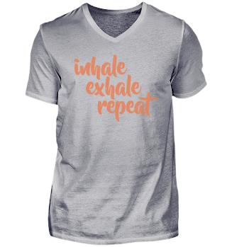 Inhale Exhale Yoga Exercise Meditation