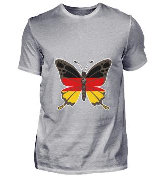 Butterfly Germany German Flag Gift Idea