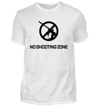 No shooting zone schwarz