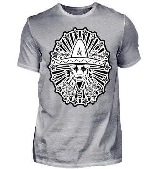 Herren Kurzarm T-Shirt Gringo Woman BW Ramirez