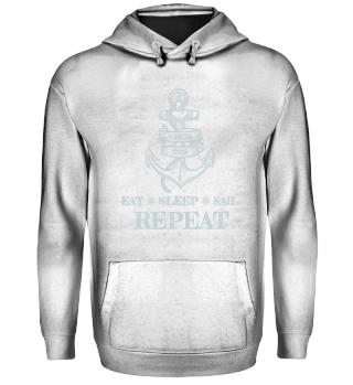 Sailing Crew Hoodie Sail Repeat 2019