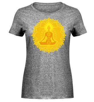♥ Yoga Lotus Meditation Chakren III Frau
