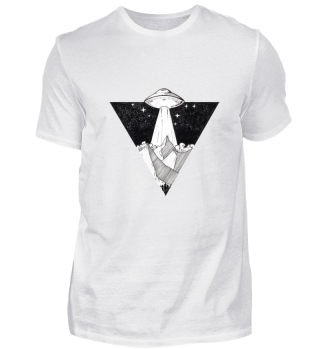 Ufo Galaxy Dreieck Trend Design Geschenk