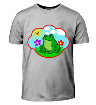 lustiger Frosch auf der Wiese funny frog
