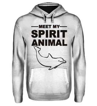 Meet Spirit Animal - dolphin - black