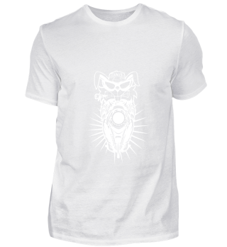 GIFT- ANGRY MOTORCYCLIST RAT WHITE