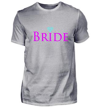 Bride mit Diamant JGA Party pink